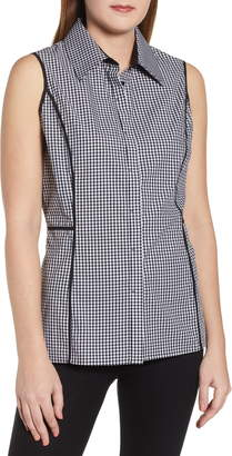 Ming Wang Gingham Blouse