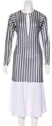 Prada Sport Striped Mesh Top