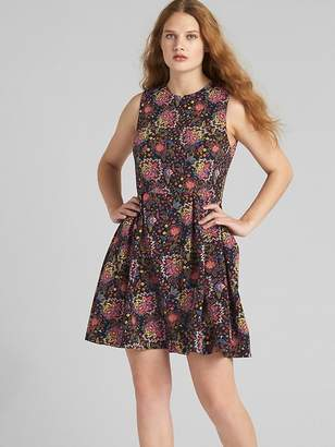 Gap Fit and Flare Floral Print Circle Dress