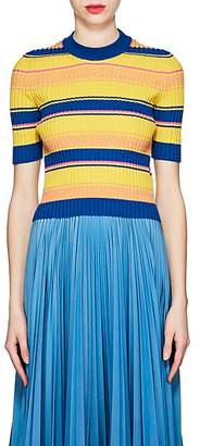 Maison Margiela Women's Striped Rib-knit Wool-Blend Sweater - Yellow