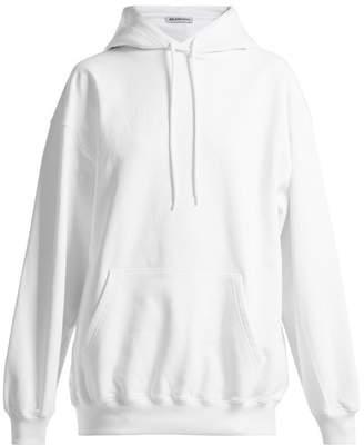 Balenciaga Cotton Hooded Sweatshirt - Womens - White