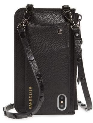BANDOLIER Jane Leather iPhone X & Xs Crossbody Case & Pouch Set
