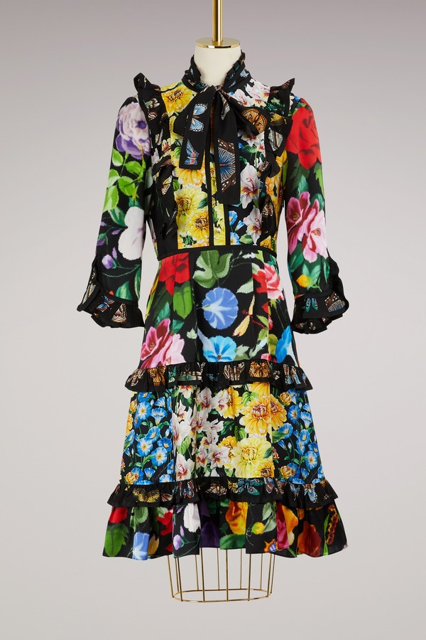 Gucci Patch Florage Insects Dress