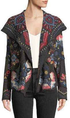 Johnny Was Syril Patchwork Embroidered Cardigan