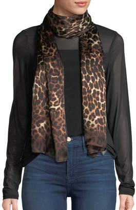 Vince Camuto Ombre Leopard-Print Silk Oblong Scarf