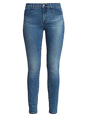 J Brand Women's Maria High-Rise Distressed Skinny Jeans