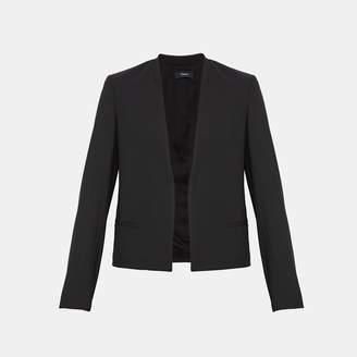 Good Wool Open-Front Clean Blazer