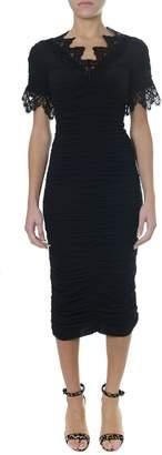 Dolce & Gabbana Black Medium-long Georgette Dress