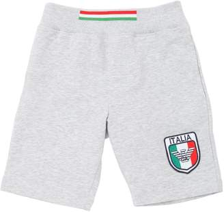 Armani Junior Italy Soccer Team Cotton Sweat Shorts