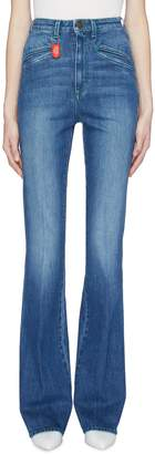 Philosophy di Lorenzo Serafini Detachable keyring contrast topstitching flared jeans