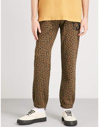Billionaire Boys Club Leopard-print cotton-jersey jogging bottoms