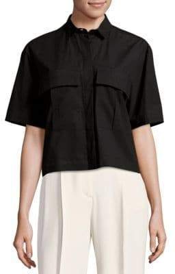 MSGM Cropped Button Down Shirt