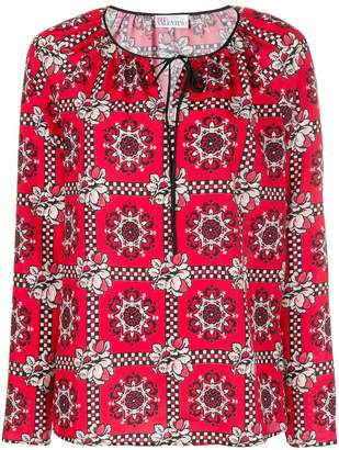 RED Valentino floral embroidered blouse