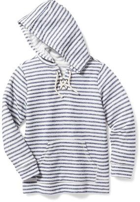 French-Terry Lace-Up Hoodie for Girls $24.94 thestylecure.com