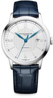 Baume & Mercier Classima 10333 Stainless Steel& Alligator Strap Watch