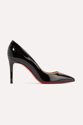 Christian Louboutin - Pigalle 85 Patent-leather Pumps - Black $675 thestylecure.com