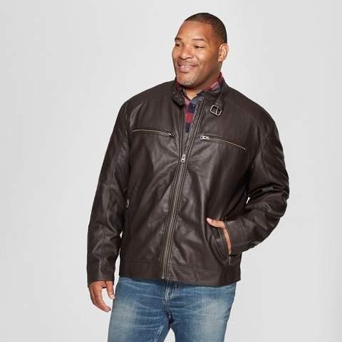 Goodfellow & Co Men's Big & Tall Waxy Zipper Front & Pockets Moto Jacket