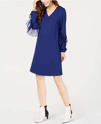 Alfani A-Line Dress with Statement Sleeves