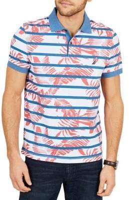 Nautica Striped and Printed Slim-Fit Cotton Polo