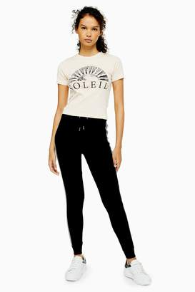 Topshop Womens Side Stripe Joggers - Black
