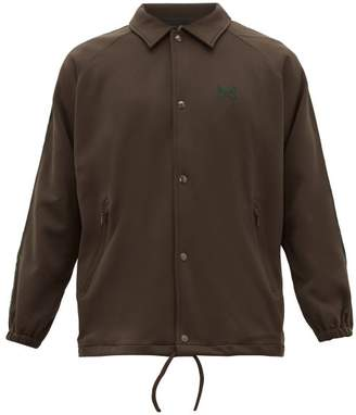 Needles Logo Embroidered Track Jacket - Mens - Brown