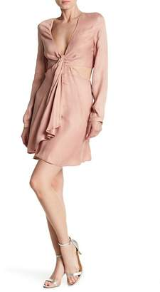 Bardot Twist Satin Dress