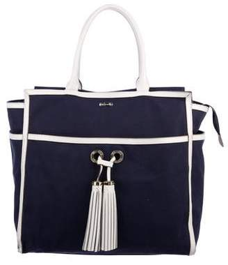 Melissa Odabash Leather-Trimmed Canvas Tote