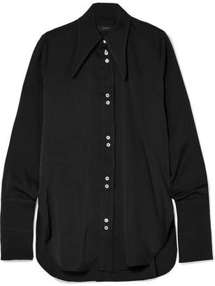Ellery Puppy Love Silk-blend Satin Shirt - Black