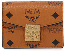 MCM Visetos Mini Accordion Card Wallet $195 thestylecure.com