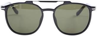 Salvatore Ferragamo Black Plastic Sunglasses