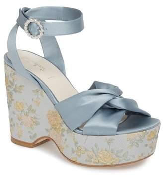 SOMETHING BLEU Serena Brocade Platform Sandal (Women)