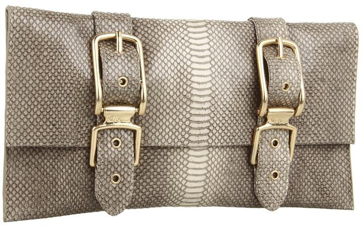 Foley + Corinna Buckle Clutch Embossed Clutch Handbags
