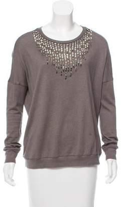 Haute Hippie Embellished Long Sleeve Sweater