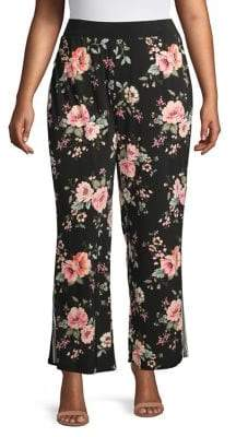 INC International Concepts Plus Floral Pull-On Pants