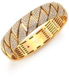 Roberto Coin Appassionata Diamond& 18K Yellow Gold Bangle Bracelet