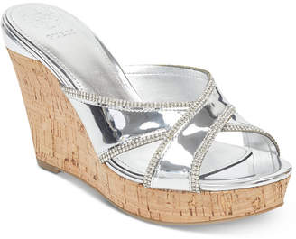 GUESS Eleonora Platform Wedge Slide Sandals Women's Shoes