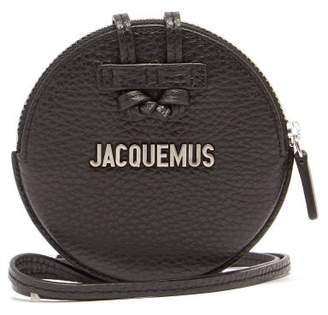 Le Pitchou Leather Necklace Bag - Mens - Black