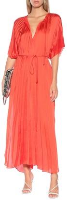 Stella McCartney Nowra pleated satin maxi dress