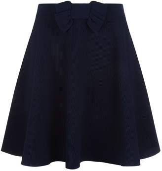 Claudie Pierlot Ribbed Skater Skirt