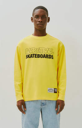 Basketball Skateboards Sketch Long Sleeve T-Shirt