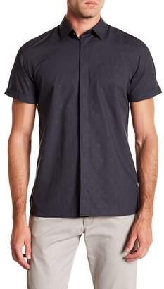 Calvin Klein Short Sleeve Roll Up Check Print Shirt