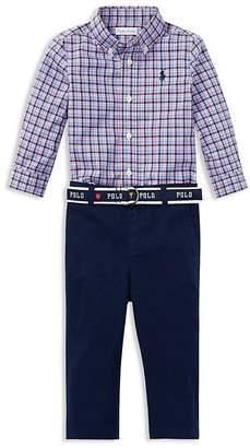 Polo Ralph Lauren Ralph Lauren Boys' Plaid Shirt & Belted Chinos Set - Baby