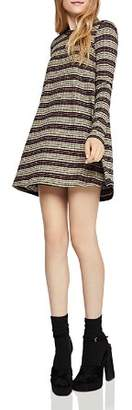 BCBGeneration Metallic Striped A-Line Dress