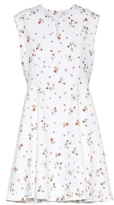 Carven Printed crêpe mini dress