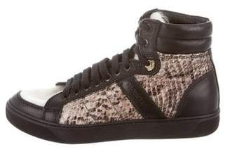Moncler Snake-Trimmed Sneakers