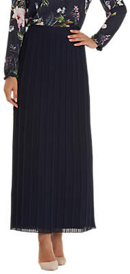 Betty Barclay Pleated Maxi Skirt, Dark Sky