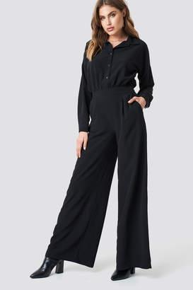 Trendyol Button Detailed Tulum Jumpsuit Black