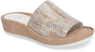 ara Tania Platform Wedge Slide Sandal