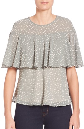 Prose & Poetry Ione Bell Sleeve Two-Layer Top