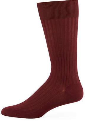 Pantherella Mid-Calf Stretch-Lisle Dress Socks